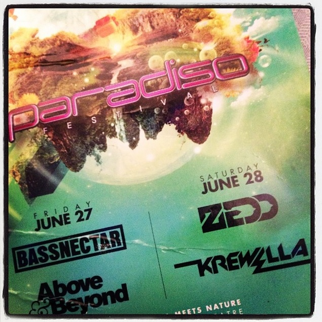 USC announcement of Bassnectar, Above & Beyond, Zedd and Krewella for Paradiso 2014