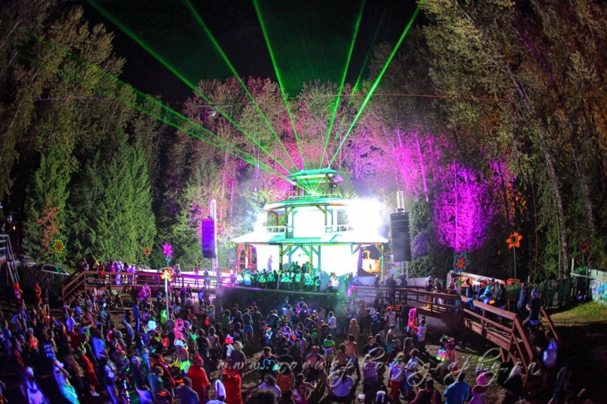 Shambhala's world-famous Pagoda Stage