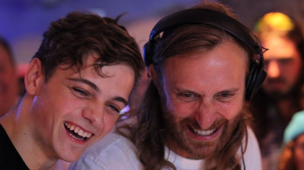 David Guetta and Martin Garrix sharing a laugh