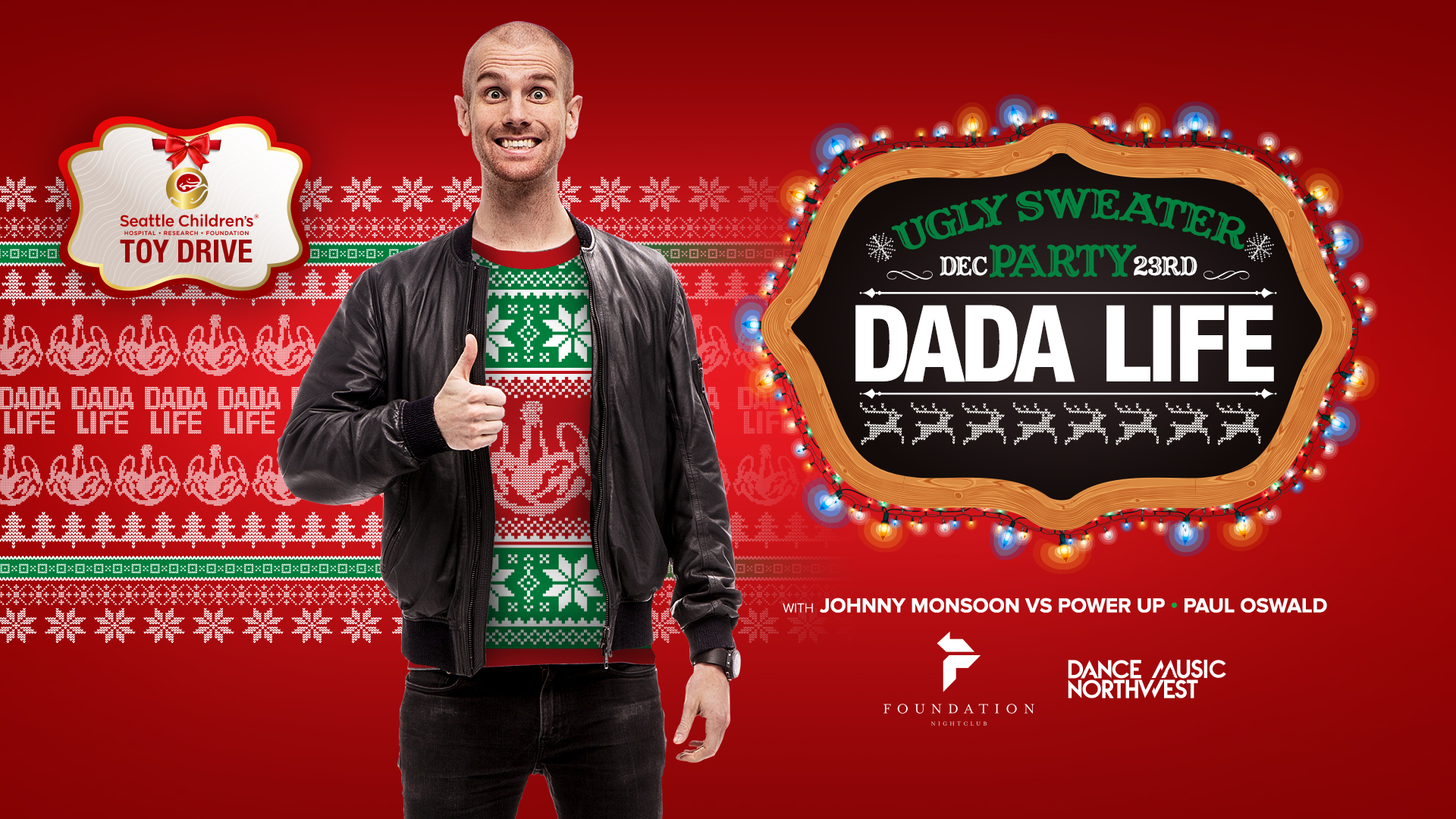 dada life ugly sweater party seattle childrens