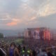 Sunset at the Gorge Amphitheatre during Bass Canyon 2021